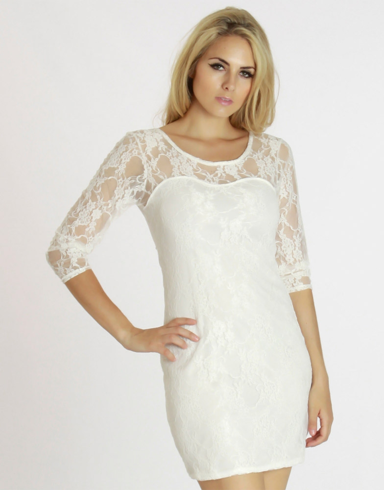 White Lace Dresses For Girls White Lace Cocktail Dress