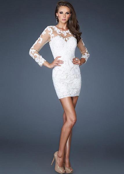 Similiar White Lace Short Cocktail Dress Keywords