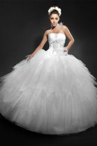 White Puffy Quinceanera Dresses