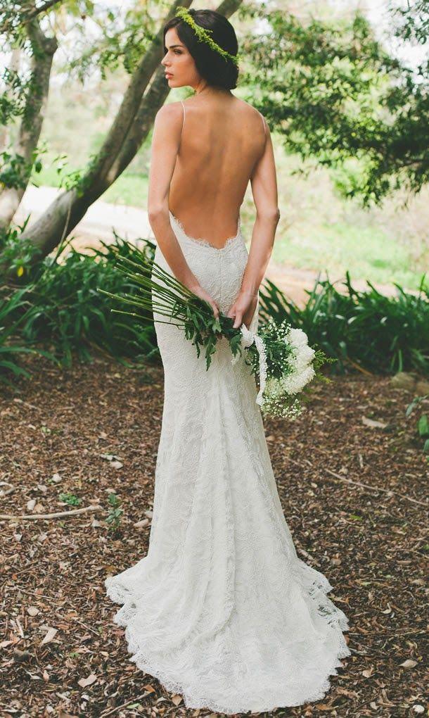 Backless Wedding Dresses   Dressed Up Girl