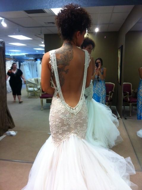 Mermaid wedding dresses dressed up girl for Backless mermaid style wedding dresses