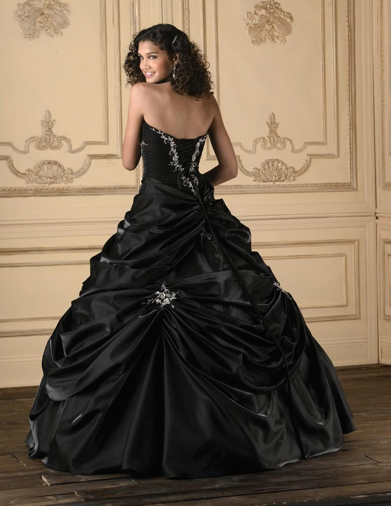 Black wedding dresses dressed up girl for Black designer wedding dresses