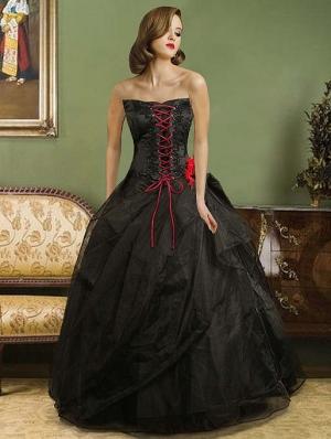 Black Wedding Dresses Cheap