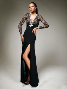 Black Lace Prom Dresses