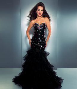 Black Mermaid Prom Dresses