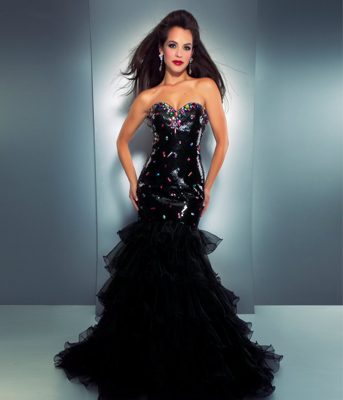 Trendy and stylish dresses black prom dresses mermaid