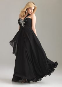 Black Plus Size Prom Dresses