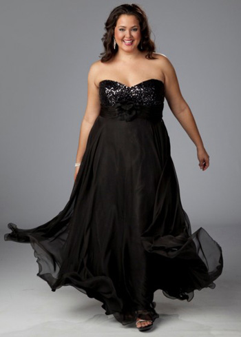 Black Plus Size Wedding Dresses with Sleeves
