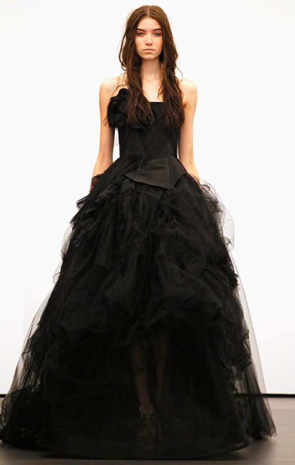 Black wedding dresses dressed up girl for Images of black wedding dresses