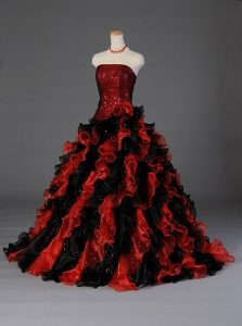 Black and Red Quinceanera Dresses