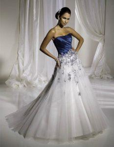 Blue and White Wedding Dresses