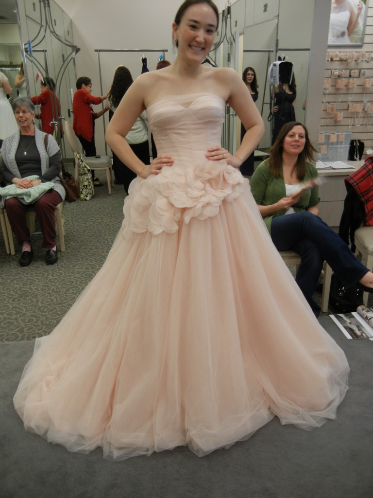 Blush Wedding Dress Dressed Up Girl