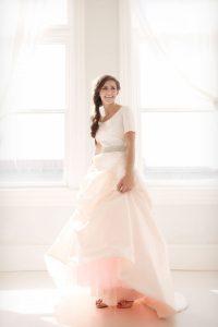 Blushing Pink Wedding Dress