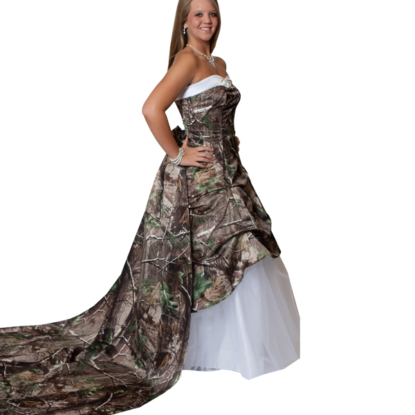 Camo Wedding Dresses | DressedUpGirl.com