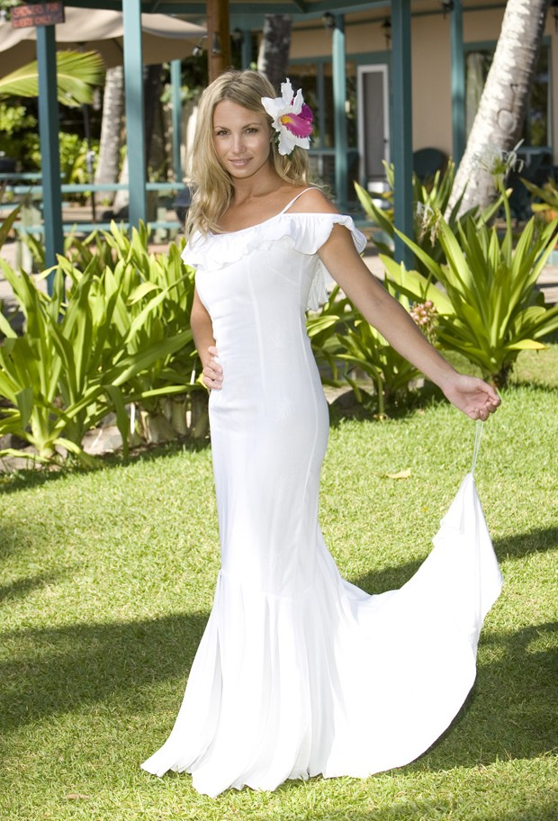 Casual wedding dresses dressed up girl for Wedding dresses for hawaii