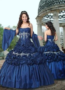 Dark Blue Wedding Dress