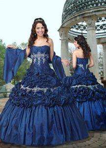 Dark Blue Wedding Dress