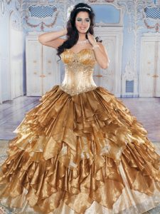 Gold Quinceanera Dress