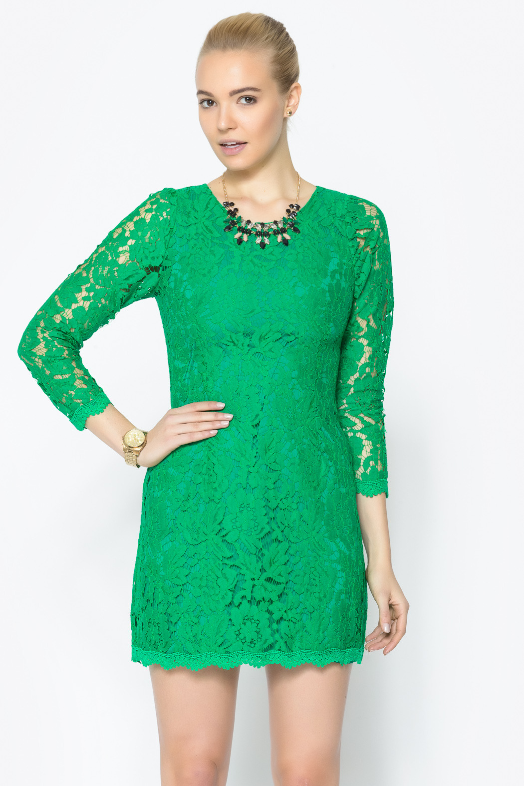Green Lace Dress | Dressed Up Girl