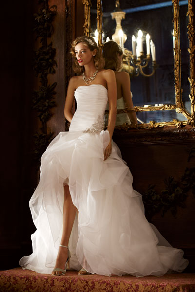 High low wedding dresses dressed up girl for Free wedding dresses low income