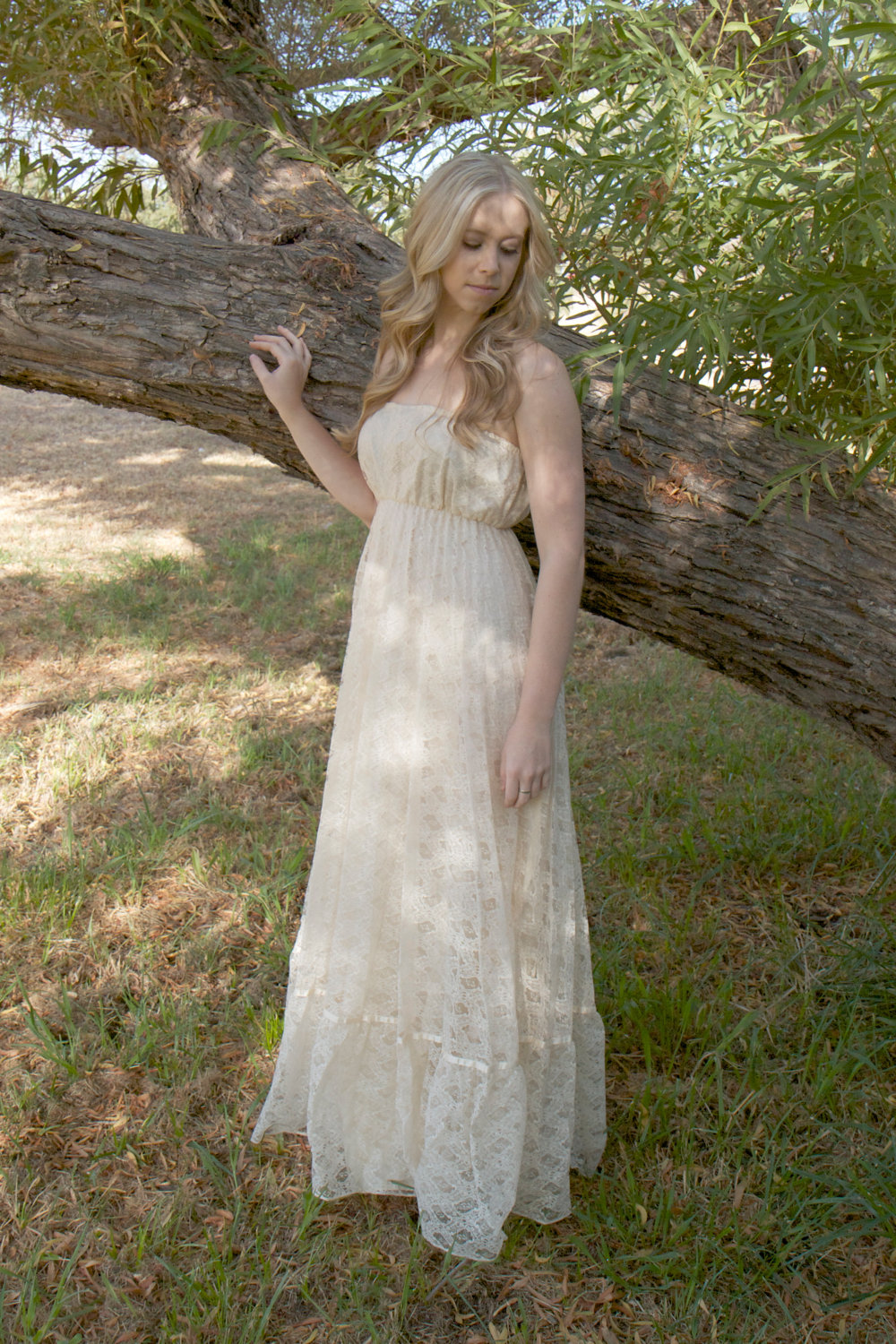 Hippie Boho Wedding Dress With Train Hippie Bohemian Wedding