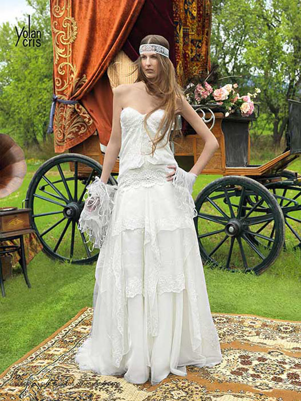 Hippie Wedding Dresses Dressed Up Girl
