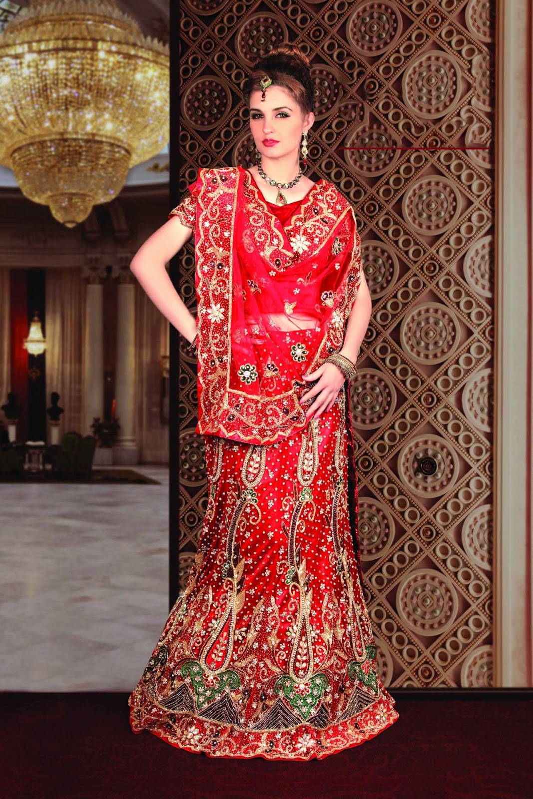 Indian wedding dresses dressed up girl for Wedding dresses online in india
