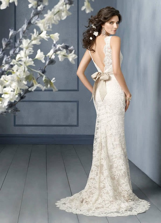 Backless Wedding Dresses | Dressed Up Girl