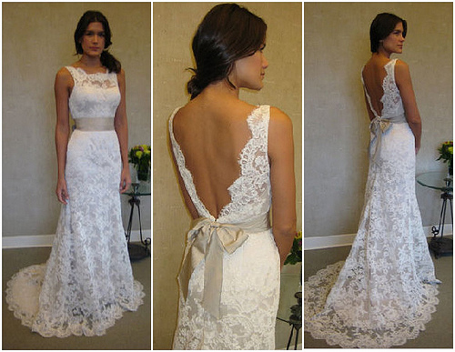 Lace wedding dress dressed up girl for Simple southern wedding dresses