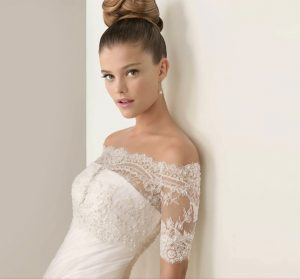 Lace Top Wedding Dress