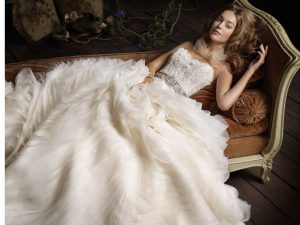 Lazaro Lace Wedding Dress