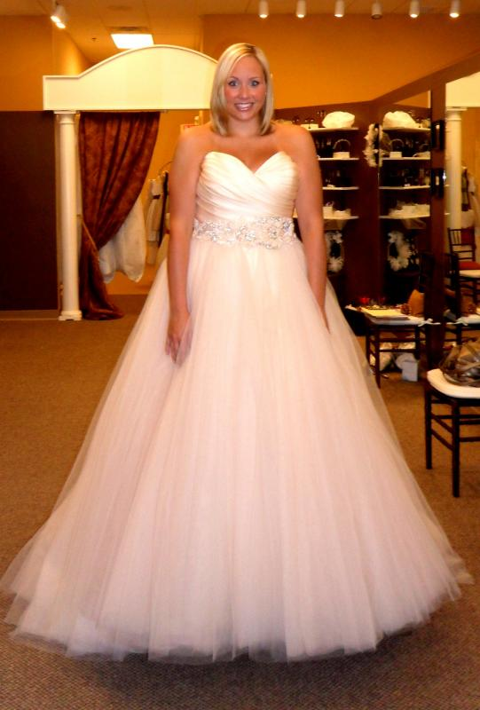 Lazaro Pink Wedding Dress