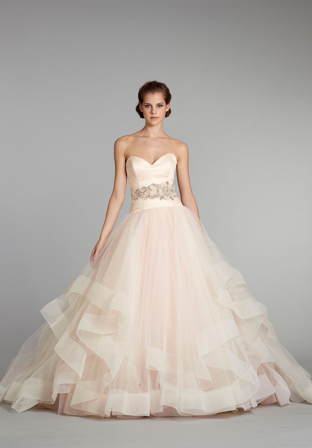 Lazaro wedding dresses dressed up girl for Pink wedding dresses pictures