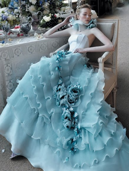 Blue wedding dresses dressed up girl for Light blue dress for wedding