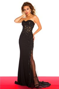 Long Black Lace Prom Dress
