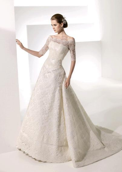 Wedding Dress With Lace Sleeves : Long sleeve lace wedding dress dressed up girl
