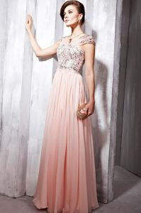 Long Pink Lace Dress