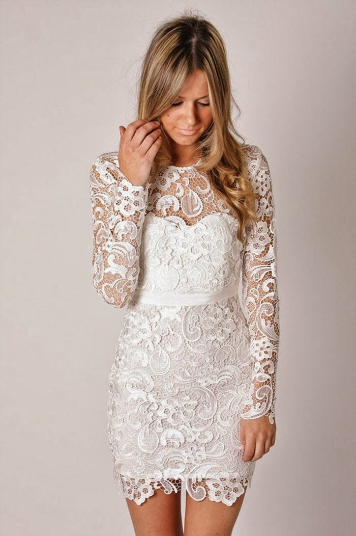 Long sleeve lace wedding dress dressed up girl for Lace dresses for weddings