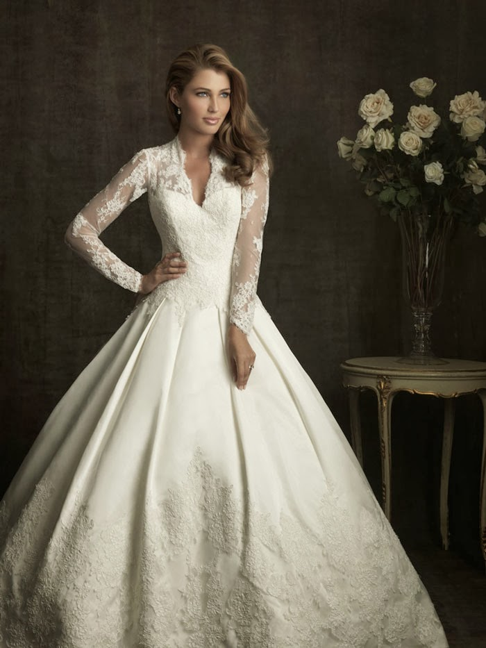 Wedding Dresses  Lace Sleeves : Long sleeve wedding dresses dressed up girl