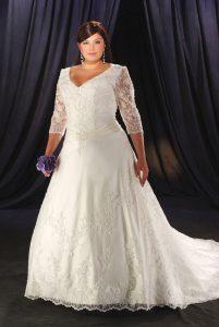 Long Sleeve Plus Size Wedding Dresses
