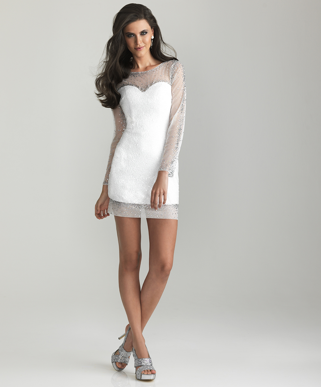 Prom Dresses Long Sleeve Short - Boutique Prom Dresses