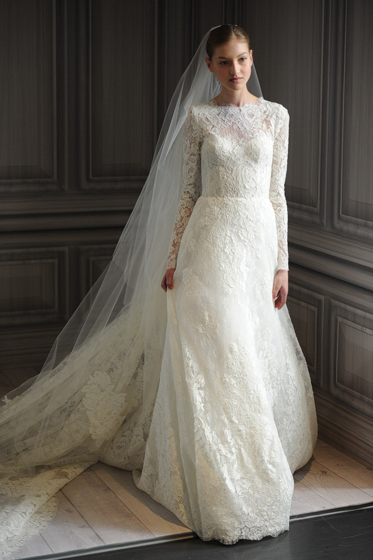 Long sleeve lace wedding dress dressed up girl for Lace sleeve wedding dresses