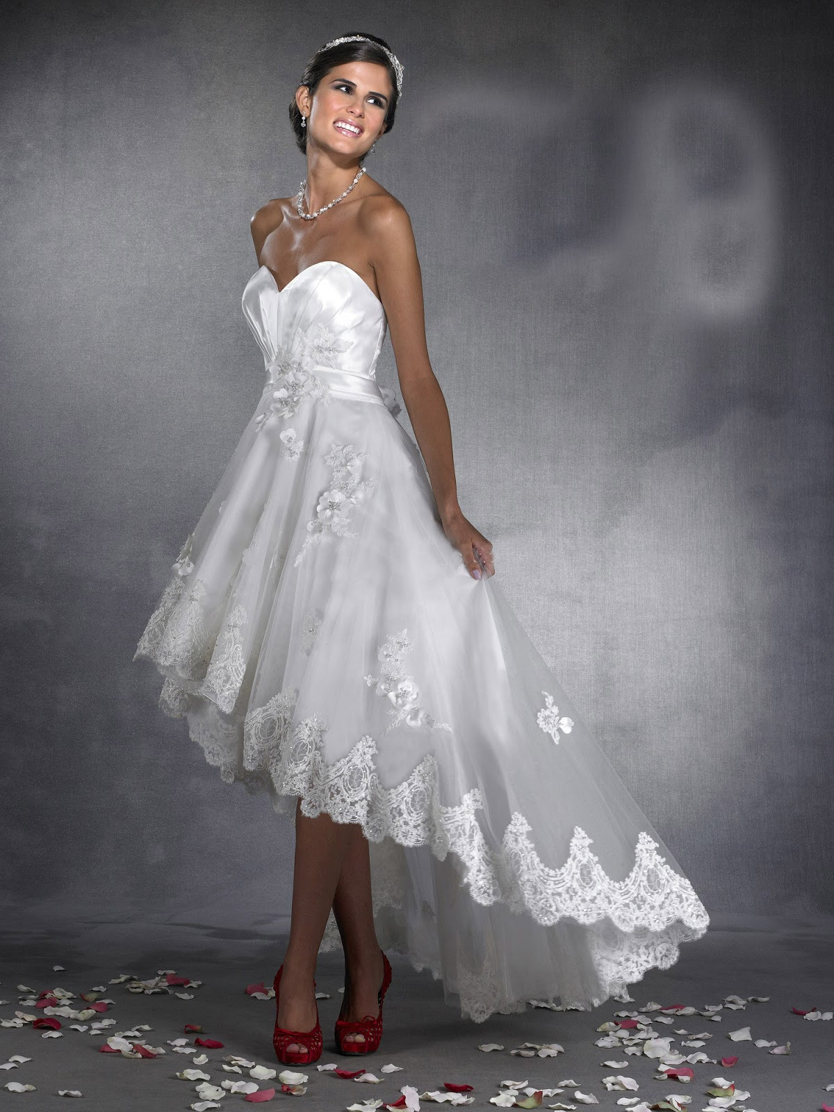 high low wedding dresses dressed up girl With wedding dresses high low