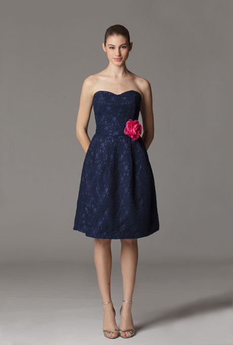 Blue lace dress dressed up girl for Navy blue dresses for wedding