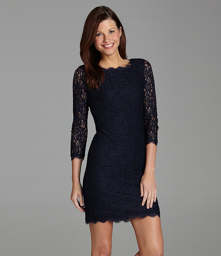 Blue lace dress dressed up girl