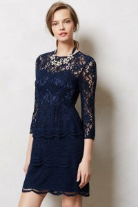 Navy Blue Lace Dresses