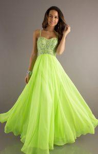 Neon Green Quinceanera Dresses
