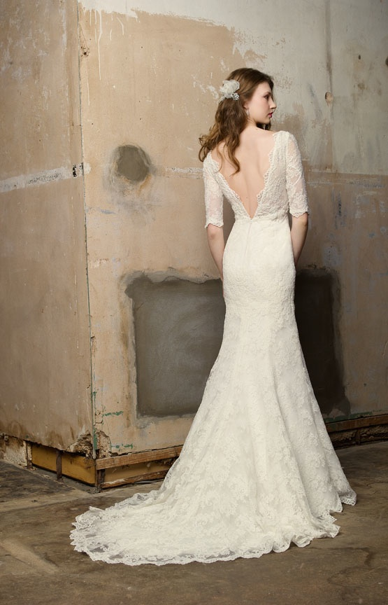 Lace low back wedding dress sydney