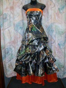 Orange Camo Wedding Dresses