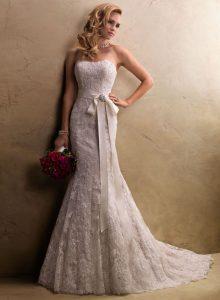 Pink Lace Wedding Dress